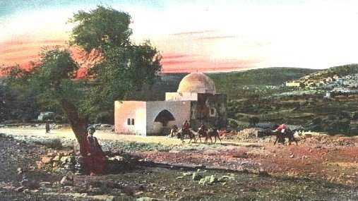 Rachel's Tomb, Israel, postcard from early 20th century